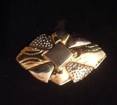 Vintage Gold and Silver Metal Buckle.