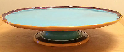 Antique Victorian Minton Majolica Lazy Susan Revolving Plate Stand 19th Century