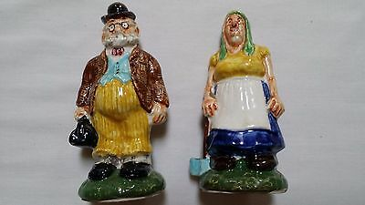 Antique Grandma & Old Doc Imperial Porcelain Salt & Pepper Shakers #97