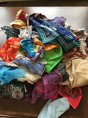 vintage Scarves - Lot of (30) Thirty Assorted Styles and Prints