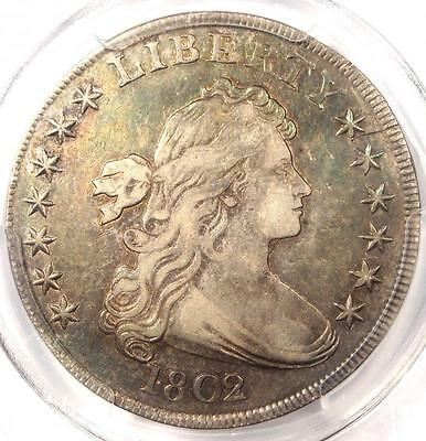1802/1 Draped Bust Silver Dollar $1 Coin - Certified PCGS VF Details - Rare!