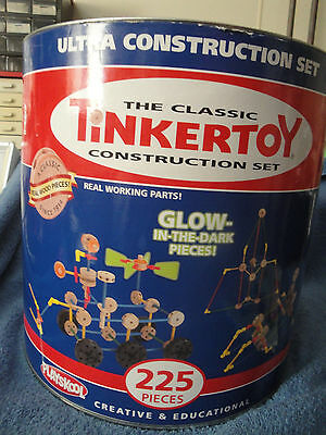 The Classic Tinkertoy Ultra Construction Set 225 Pieces Glow In The Dark Set