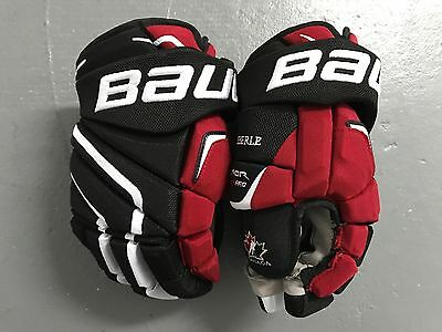 "New Bauer Vapor APX2 Team Canada Pro Stock Hockey Player Gloves 13"" Eberle APX 2"