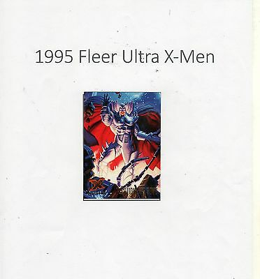 1995 Fleer Ultra X-Men Trading Card #124 X-Overs X-Cutioner's Song