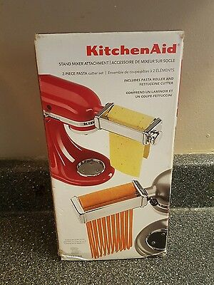 kitchenaid stand mixer 2 piece pasta cutter set attachment pasta roller new