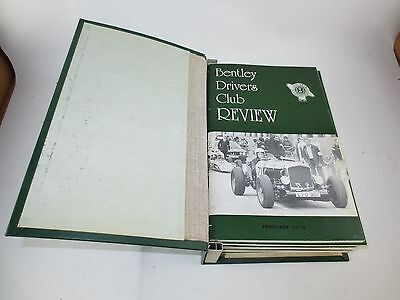The Bentley Drivers Club Review 12 issues in B.D.C bound holder 1978-80 #127-138