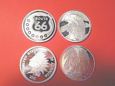 Lot of 4 - 1 Oz. .999 Fine Silver Rounds