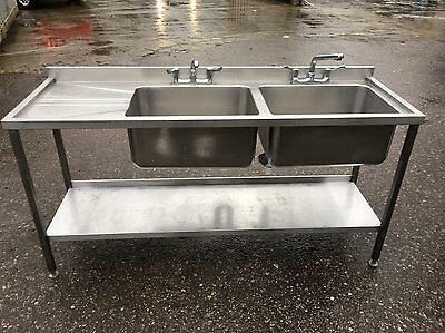 commercial stainless steel double kitchen sink