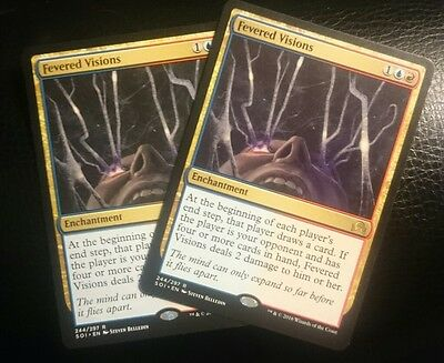 Mtg FEVERED VISIONS x2 magic the gathering