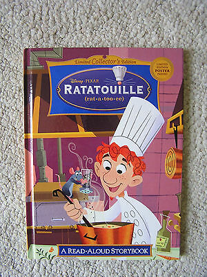 Disney Pixar Ratatouille Read Aloud Storybook LIMITED EDITION with POSTER