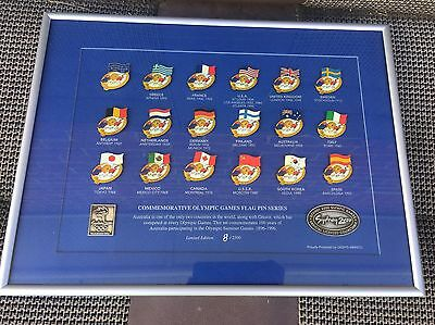 Sydney 2000 Olympics Limited Edition Flag Pin Series