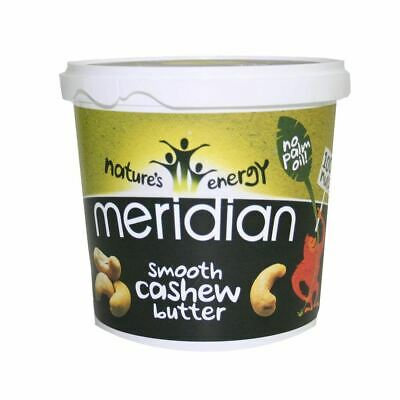 Meridian | Smooth Cashew Butter | 1 x 1kg *Vegan, No Palm Oil, 100% Nuts*