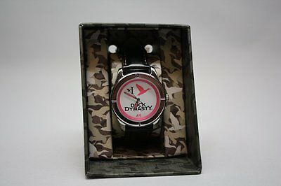 Duck Dynasty Ladies Pink Dial Black Band Wrist Watch Second Hand Is A Duck Nwt