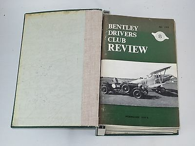 The Bentley Drivers Club Review 12 issues in B.D.C bound holder 1975-77 #115-126