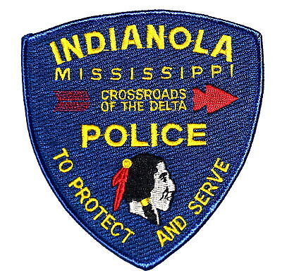 IINDIANOLA MISSISSIPPI MS Police Sheriff Patch ARROW INDIAN NATIVE AMERICAN BRAV