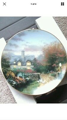 Thomas Kinkade Open Gate Cottage 1991 Plate Garden Cottages Of England Series