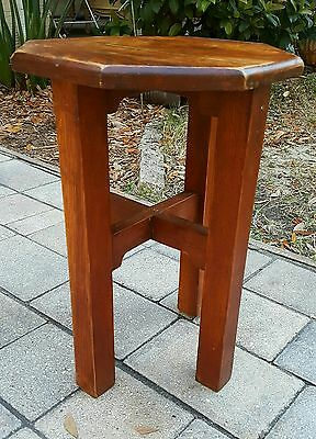 VINTAGE  Mission oak TABOURET Stand LAMP SIDE ACCENT TABLE STICKLEY STYLE