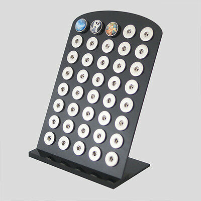 1X High quality Black Acylic snaps display for 18/20mm snaps buttons jewelry DF