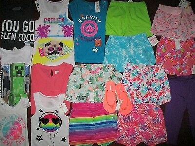Girls Size 5 6 Spring Summer Lot Clothes & Outfits Old Navy TCP NWT'S