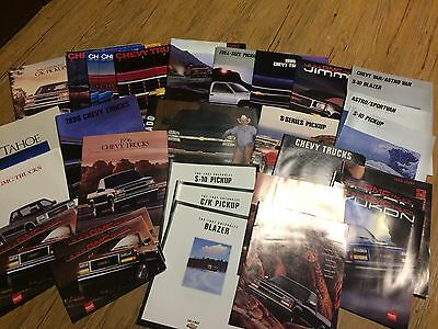 1988 to 1998 Chevy / GMC Truck Brochures, Lot of 39, Silverado, S-10, Blazer etc