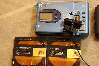 Sony Mz R35 Minidisc Player Recorder Md With Microphone