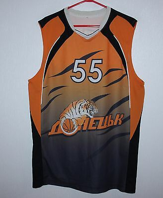 BC Donetsk Ukraine basketball match worn shirt jersey #55 Hitev