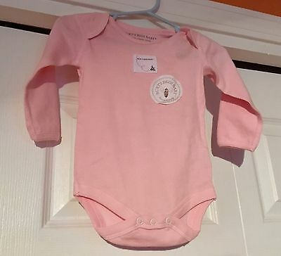 Burt's Bees Baby 100% Organic Cotton Girl's Infant Pink 0-3 Months One Piece NWT