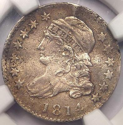 1814 Capped Bust Dime 10C JR-3 - NGC XF Detail (EF) - Rare Early Certified Coin!