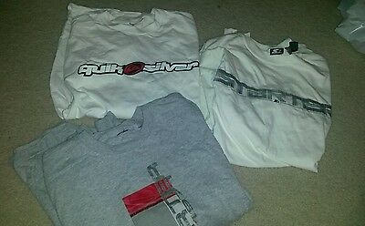 Lot of 3 Young Mens Long Sleeve T's size M, starter, quick silver