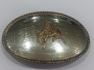 Vintage Comstock Belt buckle Cowboy Outback Australia Western Made In The USA