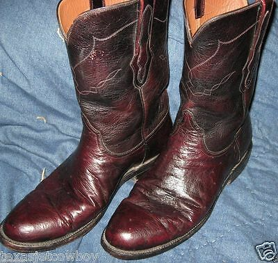 Cowboy Boots Black Jack Company Smooth Ostrich Western Boots 12 Roper
