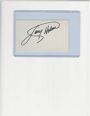 Larry Holmes Heavyweight Boxing Champion Autographed 3 X 5 Index Card