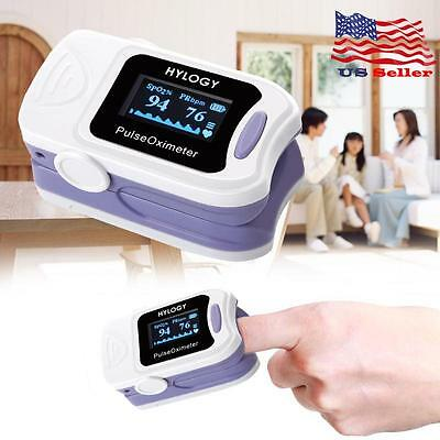 LED Finger Fingertip Blood Oxygen Meter Pulse Bar Oximeter Heart Rate Monitor