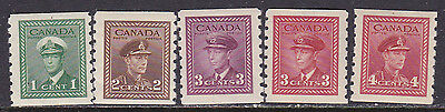 Canada Coil #263-7 Complete Mint Nh