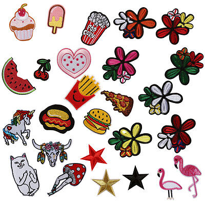 Cute Embroidered Sew Iron On Patches Set Badge Bag Fabric Applique Craft Shirt