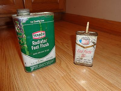 Texaco And Phillips 66 Cans-Oil