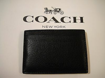 Nwt Coach Men's Leather Money Clip Slim Card Case F75459