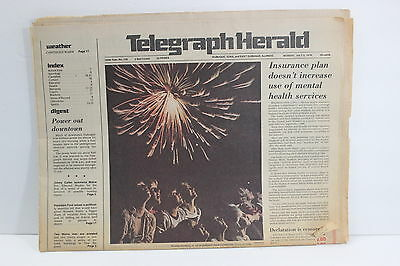Vintage Telegraph Herald Newspaper Dubuque Iowa July 5 1976 Ads Pictures Info IA