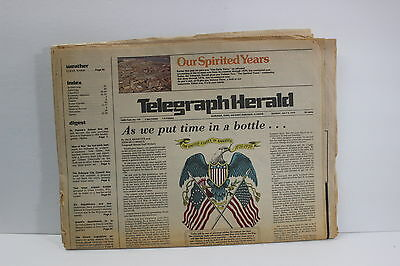 Vintage Telegraph Herald Newspaper Dubuque Iowa July 4 1976 Ads Pictures Info IA