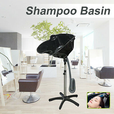 Large Mobile Portable Salon Hair Washing Basin Hairdressing Shampoo Bowl Drain