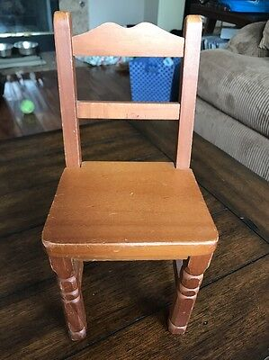 """Antique Wooden Chair American Girl Size 9"""" Tall & 4"""" Wide"""