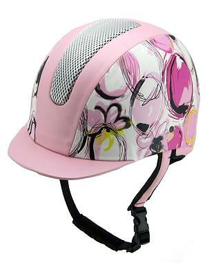 Equestrian Horse Riding Girls Helmet all purpose VG1 01.040 Design Purple/ Pink