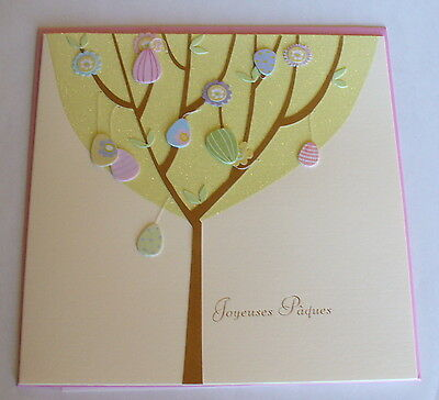 **french** Papyrus Easter Greeting Card