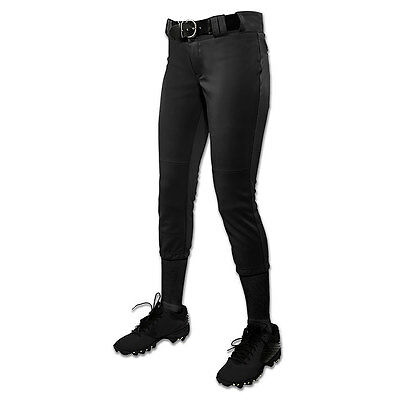 Champro Tournament Low-Rise Women's Fastpitch Softball Pant - Black - Small