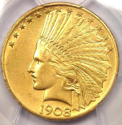 1908 Indian Gold Eagle $10 Coin - Certified PCGS AU Details - Nice Luster!