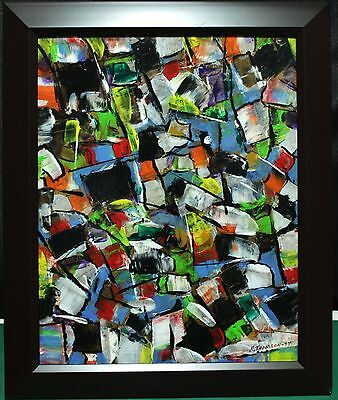 "Acrylic Painting On Board - Canadian Richard Thomson (1930 - ) - ""Abstract"""