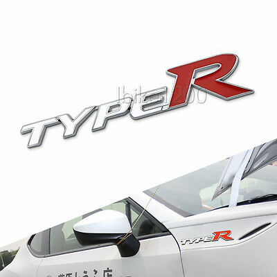 3D Alloy TypeR Type R Racing Emblem Trunk Badge Decal Sticker for Civic EK EG SI
