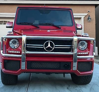 2014 Mercedes-Benz G-Class G63 AMG G63 AMG 2014 MARS RED Mercedes Benz G Wagon Truck Red Interior with Carbon Fiber