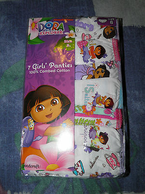 Girls Dora the Explorer 7pk Panties Size 8- NEW!