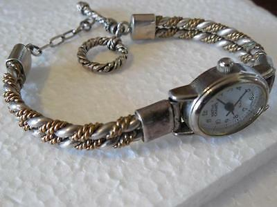 Southwestern Two-Toned Twisted Rope 925 Sterling Silver Toggle Clasp Watch Band